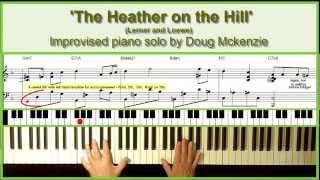'The Heather On The Hill' - Jazz piano tutorial