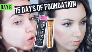 Does it really cover?! DERMACOL Makeup Cover Foundation {Review & Demo} 15 DAYS OF FOUNDATION | Kholo.pk