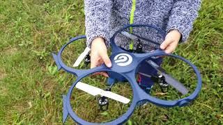 Quadrocopter Drohne Ninetec Spaceship9 Kameradrohne mit HD Videokamera und LED Beleuchtung