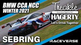 BMW CCA NCC   Sebring   Winter 2021 Round #11   iRacing eSports Broadcast