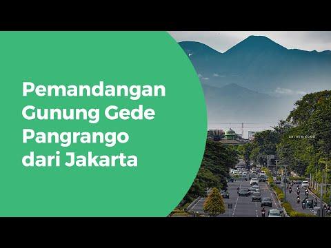 Gunung Gede Pangrango kembali terlihat lagi dari Kota Jakarta