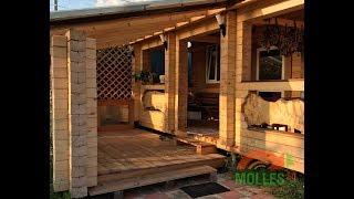 Баня из осины камерной СВЧ-сушки производства Моллес