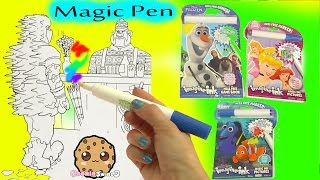 Magic Imagine Ink Rainbow Color Pen Surprise Picture Books of Disney Frozen, Finding Dory + More