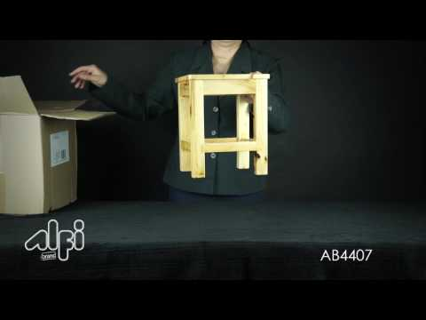 Video for 10-inchx10-inch Square Wooden Bench/Stool Multi-Purpose Accessory