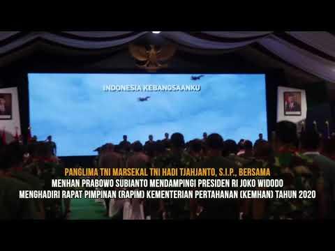 Panglima TNI Menghadiri Rapim Kemenhan Tahun 2020