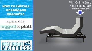 How to install Leggett and Platt headboard brackets