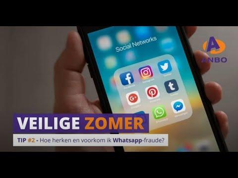 ANBO Veilige zomer, tip 2 - WhatsApp fraude