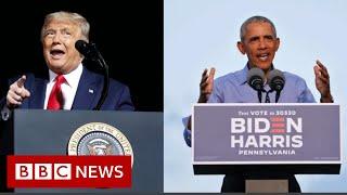 Wybory w USA 2020: Obama i Trump w politycznej bójce na szlaku kampanii – BBC News-nagranie w j.angielskim