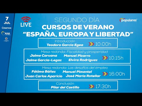 """Segundo día de los cursos de verano """"España, Europa y Libertad"""""""