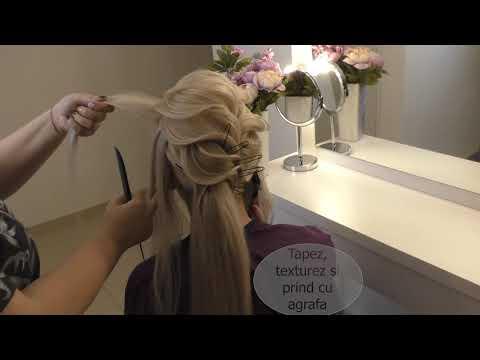 Tutorial coada texturata by Crina Dodea Hair Designer
