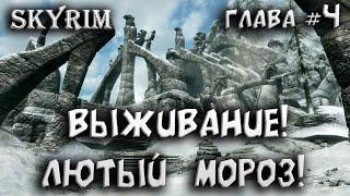 Выживание!  Лютый  мороз! ● The Elder Scrolls V: Skyrim глава #4 ● Skyrim лучшие моды ● Игра мечты