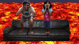 The Floor is Lava Challenge | Fun with Sophia