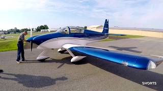 Robin Hitchen's Newly Painted RV-9A