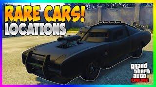 GTA 5 - FREE SECRET RARE CARS LOCATIONS IN GTA ONLINE! RARE STORABLE CAR SPAWNS! (GTA 5 Rare Cars)