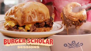 How to Cook a Double-Dipped Roast Beef Burger with George Motz | Burger Scholar Sessions