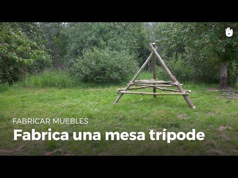 Cómo fabricar una mesa trípode | Construye en la naturaleza como un Boy Scout