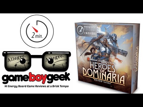 Magic the Gathering: Heroes of Dominaria (Allegro 2-min) Review with the Game Boy Geek