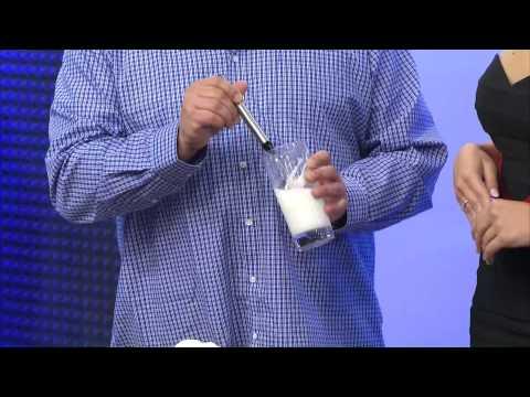 Rosenstein & Söhne Milchaufschäumer-Stick mit Edelstahl-Gehäuse