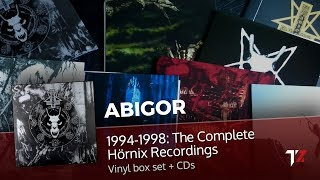 "Unpacking: ABIGOR - ""1994-1998: The Complete Hörnix Recordings"" Limited Edition Vinyl Box Set + CDs"