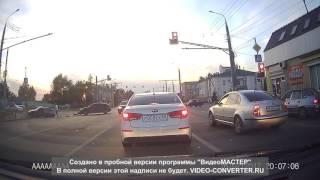Видео момента ДТП на перекрестке в Терновке