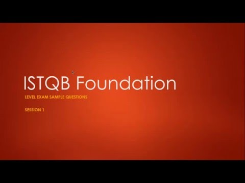 ISTQB Foundation Exam Sample Questions Session 1 - YouTube