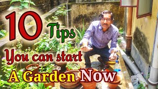 How to start gardening ? 10 important things to know
