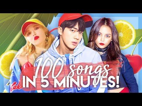 My TOP 100 K-pop Songs of 2017 in 5 MINUTES!