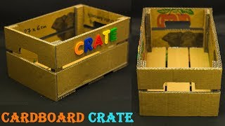 Homemade Cardboard Basket II Cardboard Crate