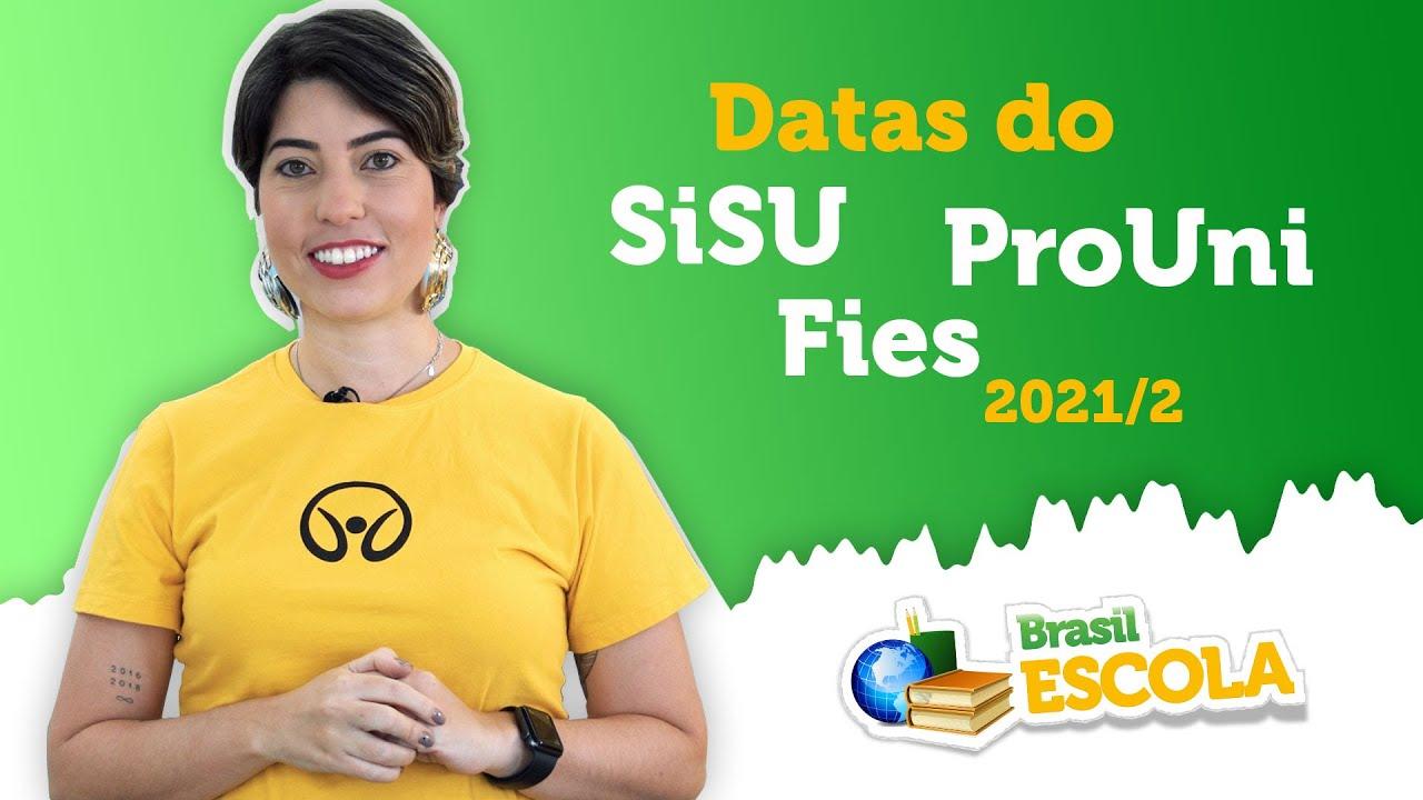 Saíram as datas do SiSU, ProUni e Fies 2021/2