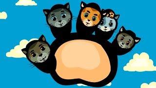 Папа - пальчик - Три котенка развивающие мультфильмы для детей - теремок тв песенки-караоке
