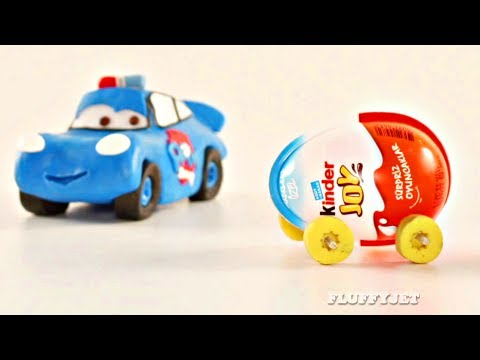 Lightning McQueen Surprise Eggs Cars RACE - Play Doh Stop Motion - Disney Pixar Cars Playtime