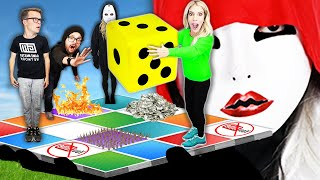 GIANT BOARD GAME Challenge in Real Life! (RZ Twin tricks Hacker to win $10,000)  | Rebecca Zamolo