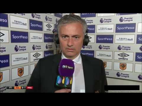 Post Match Interview Hull city vs Mau Utd 2016