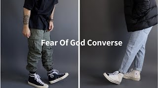 How To Style Fear Of God Converse I Outfit Challenge