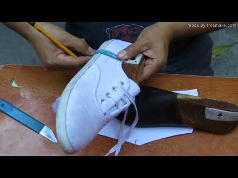 Como hacer una zapatilla de lona de mujer (Facil y rápido)