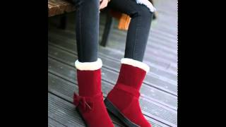 Scrub clean bow snow boots women.avi