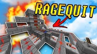TNT CANNON Makes Him RAGEQUIT! | Minecraft TNT WARS w/ PrestonPlayz & LandonMC