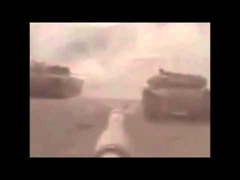 Сирия НЛО атакует танк