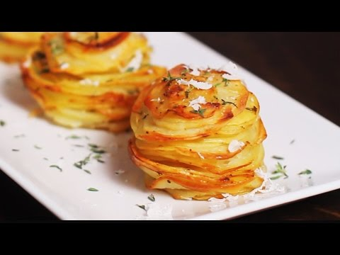 Video Parmesan Potato Stacks Recipe