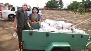 Mais de seis toneladas de alimentos são entregues para famílias carentes em Patos de Minas