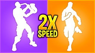 So I played All My Fortnite Emotes in 2X Speed And They Sounded *BETTER*..!