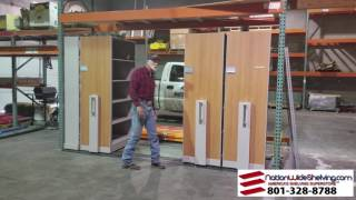 Mobile Shelving Under Pallet Rack | 801-328-8788 | NationWide Shelving