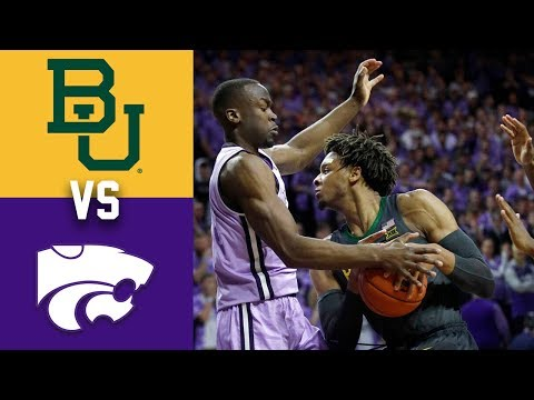 #1 Baylor vs Kansas State 2020 College Basketball
