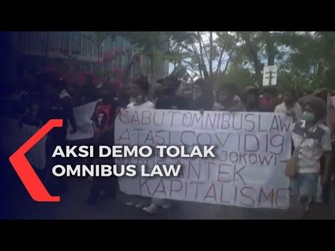 mahasiswa demo tuntut cabut pengesahan uu cipta kerja