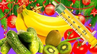 Фаршируем  овощи и фрукты к праздничному, новогоднему столу.Легкие закуски на скорую руку.