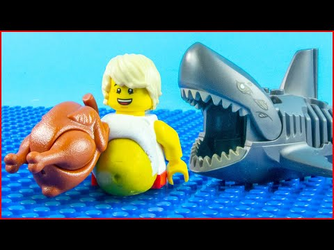 Lego Shark Attack vs Bodybuilding - Gym Fail