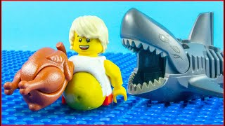 Lego Shark Attack Vs Bodybuilding   Gym Fail
