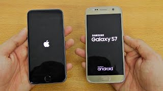 iPhone 6S iOS 10 Beta 3 vs Samsung Galaxy S7 - Speed Test! (4K)