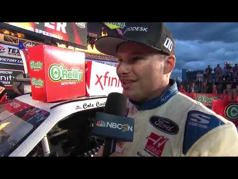 Custer did 'best Kevin Harvick impression' for Texas win
