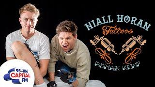 Niall Horan Tattoos 'Nice To Melt Ya' On Roman Kemp's Leg 😖 | Capital